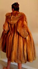 Red Fox Fur Coat with Hood