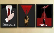 028 3pcs Solid frame - The Americans 12x16 Minimalist Poster