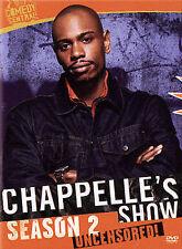Chappelles Show - Season 2 Uncensored (Dvd, 2005, 3-Disc Set)