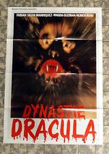 DYNASTY OF DRACULA -German 1-Sheet FILMPOSTER 23x33inch ´81 FABIAN ARANZA Horror