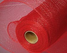 Red Deco Poly Mesh 21 inch 10 Yards Solid color  NEW Wreath & Craft Supply SB