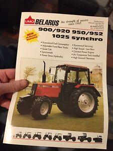 UMO Belarus 900 920 950 952 1025 tractor brochure leaflet Letchworth Wrest Park