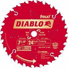"""7 1/4"""" 24T Freud Diablo Circular Saw Blade DO724A 10Pk"""