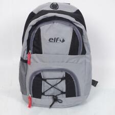 Sac à dos moto souple ELF coloris gris noir taille moyenne nombreuses poches