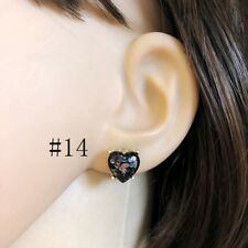 2018 New Gold New York Mini Love Heart Studs Galaxy Glitter Square Stud Earrings