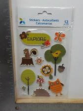 MOMENTA OWLSQUIRREL BUTTERFLY NUTS FOREST FRIEND DIMENSIONAL STICKERS NEW A10696