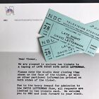 2 Late Night With David Letterman Actual Studio Audience Tickets 1985, Letter