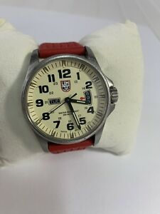 Luminox Red Silicone Watch 1820 Series