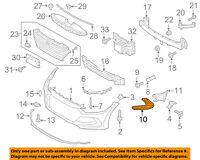 HYUNDAI OEM 16-17 Elantra GT Front Bumper Grille-Trim Bezel Right 86564A5010