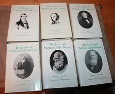 COMPLETE SET LETTERS OF WILLIAM CULLEN BRYANT LIMITED 1ST EDITIONS 1975-1992 HC