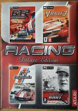 Racing Deluxe Edition PC Cd-rom 4 Game Set GTR V-rally 3 Schumacher Etc