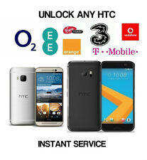 Unlock Code for HTC 10 M9 M8 A9 Vodafone O2 EE Three Tesco Vodaphone 3 GiffGaff