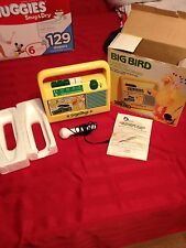 Sesame Street Big Bird Cassette Player/Recorder - Daylin 1986- Extremely Rare
