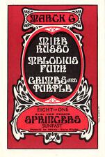 ORIGINAL / VINTAGE / PSYCHEDELIC / MINTY 1971 MIKE RUSSO PORTLAND HANDBILL