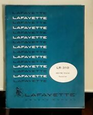 LAFAYETTE LR-310 OWNER'S MANUAL / OPERATING GUIDE / PARTS LOCATION LOT