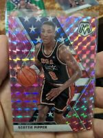 2020 Mosaic Scottie Pippen Team USA (3x) Card Lot Pink & Green Prizm Inserts