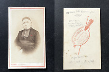 Blondel, Tourcoing, Prêtre âgé en soutane, circa 1870 vintage cdv albumen print
