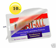( 200 ) 10 Mil Luggage Tag with Slot Laminating Pouches 2-1/2 x 4-1/4 LAM-IT-ALL
