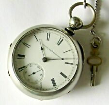 size 7 jewels Private label Runs New listing Antique Elgin Key-wind Pocket Watch 18