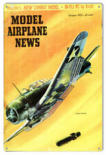 Aviation Model Airplane News October 1959 Magazine Cover 12×18