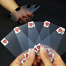 Clear Poker Cards Waterproof Matte Transparent Deck Playing Cards Game 54Pcs