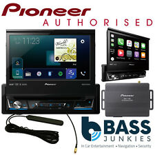 "Pioneer AVH-Z7100DAB 7"" Flip Car Screen DAB Carplay DVD Bluetooth & Sat Nav Box"