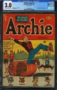 ARCHIE COMICS #1 CGC 3.0 OW/WH PAGES // 1ST ARCHIE COMICS (1942)