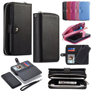 Magnetic Flip Zipper Phone Wallet Case Cover Purse for iPhone X XS Max XR