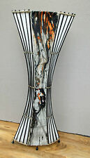 Unusual Jungle Flame Trumpet Lamp Hand made Bali Bark & Bamboo 1 Mtr Floor Lamp