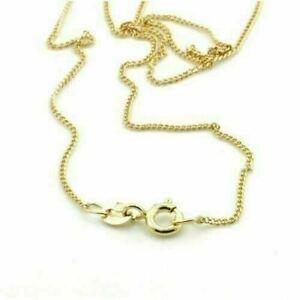 """9ct Gold Curb Chain 20"""" Fine Curb Chain 20 inches"""