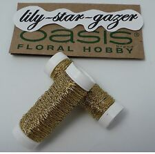 Oasis Gold Bullion Wire 25g Reel – 33 metre roll - Floristry Craft Student Art