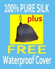 100%Pure Silk Liner__Oz Made +GUARENTEED +Waterproof Cover_fabulous Quality