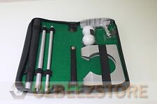 1x Aluminum indoor golf putting training set executive practice kit putter tools