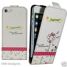 Stylish Leather Thin Flip Case Cover for Apple iPhone 4 4S 5 5S 5C - SMALL SWEET