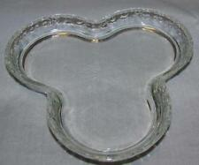 AVON Clear Glass 3 Clover Candy Dish Perfume Tray