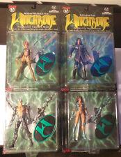 Lot of 4 Witchblade Figures 1998 NIPs - Kenneth, Sara, Medieval, & Nottingham