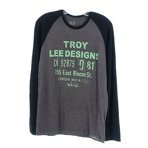 Troy Lee Designs Mens Long Sleeve Cargo Tee Size Medium New with Tags