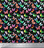 Soimoi Decorative Butterfly 58 Inches Wide Cotton Fabric Craft Material 1 Mtr