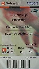 TICKET 2005/06 Eintracht Frankfurt - Bayer Leverkusen