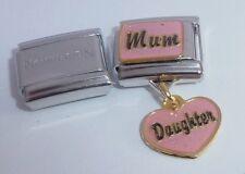 MUM DAUGHTER 9mm Italian Charm +1x Genuine Nomination Classic - I Love my Heart
