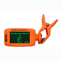 GoGo Tuners Mini Clip-On Chromatic Guitar Tuner - Orange