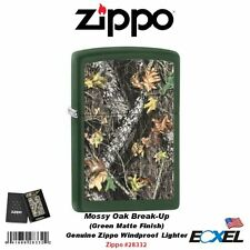 Zippo 28332, Mossy Oak Breakup Lighter,Green Matte, Windproof Pocket