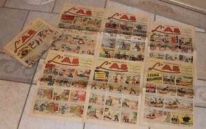 lot de 19 n° périodiques L'as 1938 (voir photos et description)
