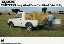 SUZUKI SIERRA Long Wheel Base LWB 4x4 Pickup Prospekt Brochure Sheet INDIA 65