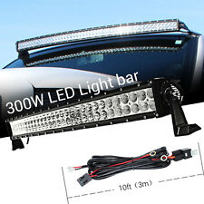 30INCH 300W CURVED LED Work Light Bar Flood Spot Combo for Trucks Offroad JEEP