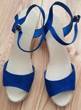 Long Tall Sally Blue Wedge Heel Shoe 10