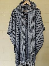 UniSex Nepal Mexican Cotton Poncho Cotton Baja Hippy Boho Hunting Surf wear 2