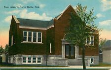 1919 New Library, North Platte, Nebraska Postcard