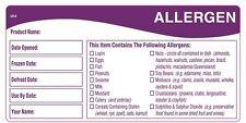 DayMark 116478 - Daymark 50mm x 100mm Allergen Storage Shelf Life Label