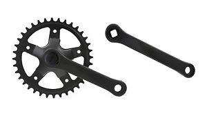 Fahrrad Kettenradgarnitur Set 36 Zähne Tretkurbel 127mm Kurbellänge 16-20 Zoll